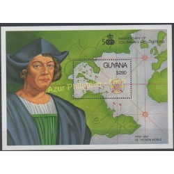 Timbres - Thème Christophe Colomb - Guyana - 1991 - No BF 76