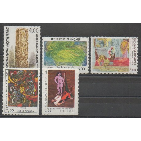 France - Poste - 1984 - No 2299/2301 - 2342/2343 - Peinture