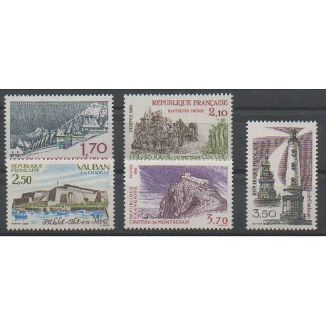 France - Poste - 1984 - No 2323/2326 - 2335 - Monuments