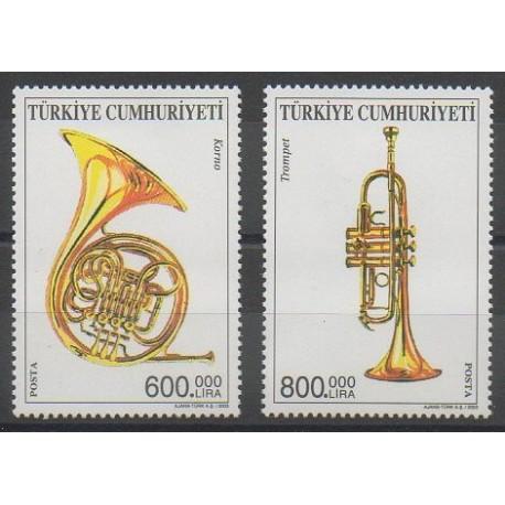 Turquie - 2003 - No 3082/3083 - Musique