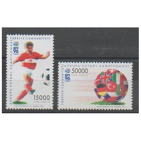 Turquie - 1996 - No 2823/2824 - Football