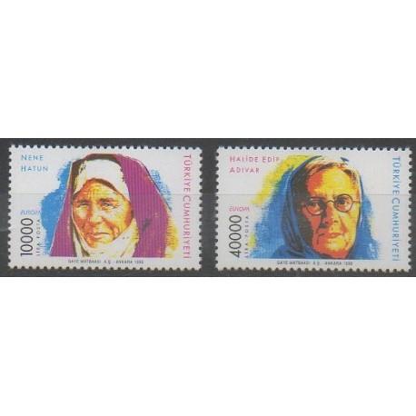 Turquie - 1996 - No 2818/2819 - Célébrités - Europa