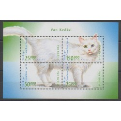 Turquie - 1997 - No 2841/2844 - Chats