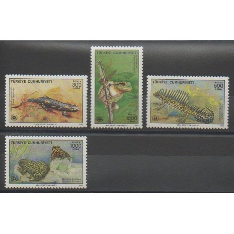 Turquie - 1990 - No 2637/2640 - Reptiles - Environnement