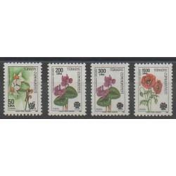 Turquie - 1980 - No 2626 - 2628 - 2644/2645 - Orchidées - Roses