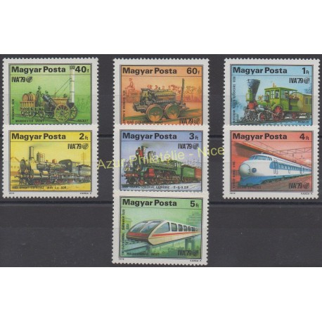 Hongrie - 1979 - No 2655/2661 - Trains