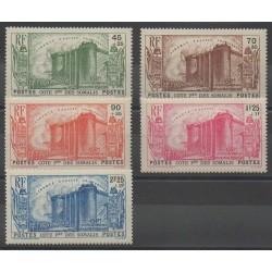 Côte des Somalis - 1939 - No 172/176 - Neuf avec charnière