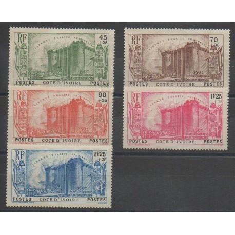 Côte d'Ivoire - 1939 - No 146/150 - Neuf avec charnière