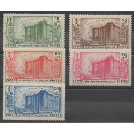 Saint-Pierre et Miquelon - 1939 - No 191/195
