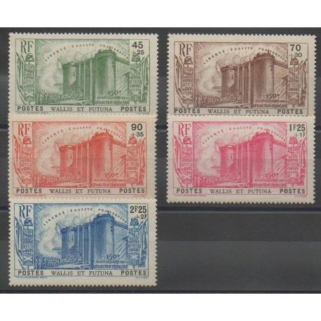Wallis et Futuna - 1939 - No 72/76