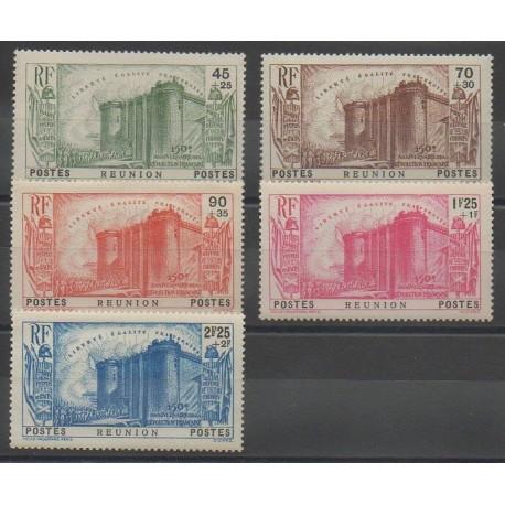 Réunion - 1939 - No 158/162 - Neuf avec charnière