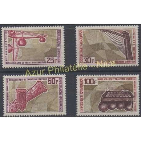 Gabon - 1969 - Nb 239/242 - Music