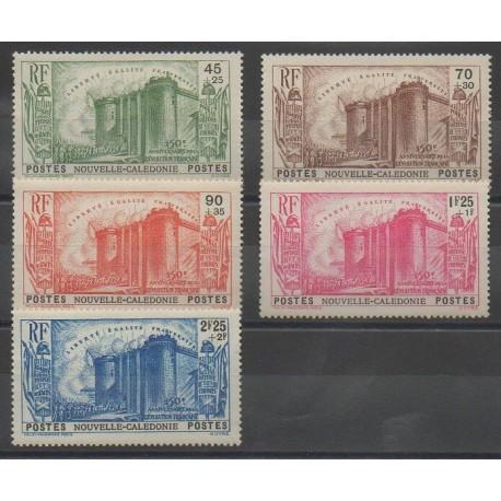 Nouvelle-Calédonie - 1939 - No 175/179 - Neuf avec charnière