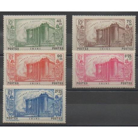 Inini - 1939 - No 31/35 - Neuf avec charnière