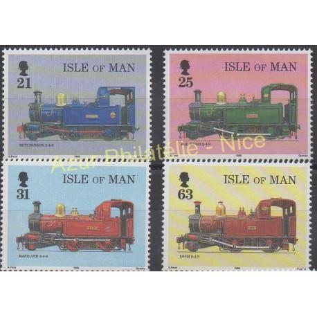 Man (Ile de) - 1998 - No 802/805 - Trains