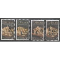Gibraltar - 2012 - No 1457/1460 - Échecs