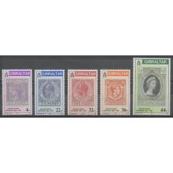 Gibraltar - 1986 - No 515/519 - Timbres sur timbres