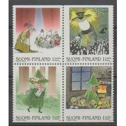 Finlande - 2000 - No 1486/1489 - Littérature