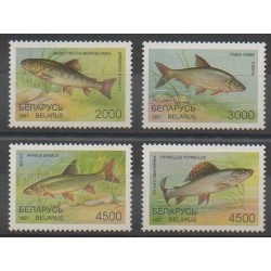 Belarus - 1997 - Nb 204/207 - Sea animals