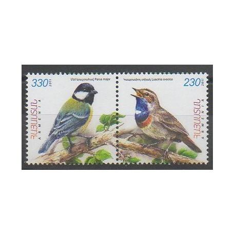 Arménie - 2011 - No 663/664 - Oiseaux