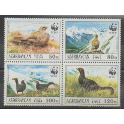 Azerbaïdjan - 1994 - No 163/166 - Oiseaux - Espèces menacées - WWF