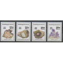 Azerbaïdjan - 2003 - No 474/477 - Minéraux - Pierres précieuses