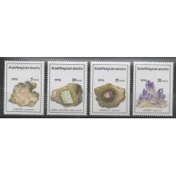 Azerbaïdjan - 1994 - No 136/139 - Minéraux - Pierres précieuses