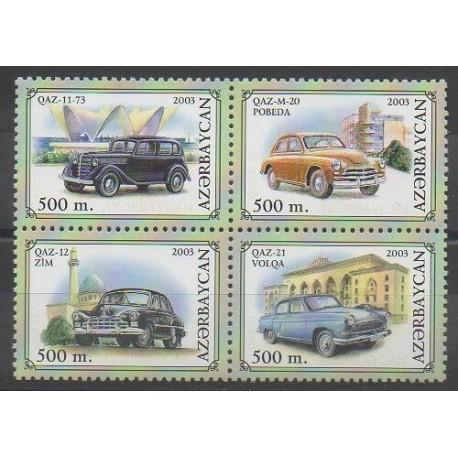 Azerbaïdjan - 2003 - No 469/472 - Voitures