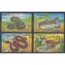 Azerbaïdjan - 2000 - No 402/405 - Reptiles