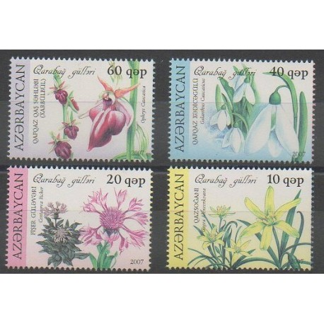 Azerbaïdjan - 2007 - No 595/598 - Fleurs