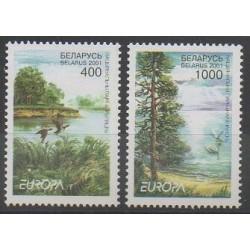 Biélorussie - 2001 - No 370/371 - Arbres - Europa