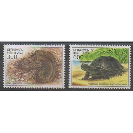 Biélorussie - 2003 - No 445/446 - Reptiles