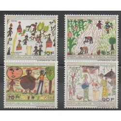 Togo - 1988 - No 1237/1241 - Dessins d'enfants