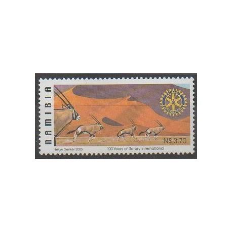 Namibie - 2005 - No 1037 - Rotary - Mammifères
