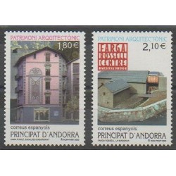 Spanish Andorra - 2002 - Nb 281/282 - Monuments