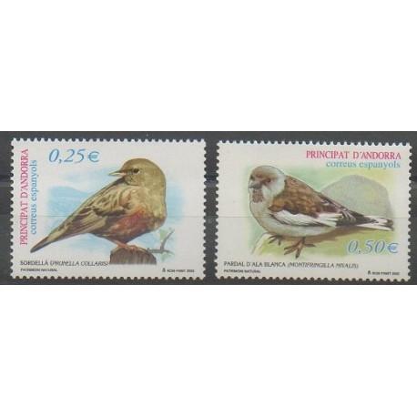 Andorre espagnol - 2002 - No 277/278 - Oiseaux