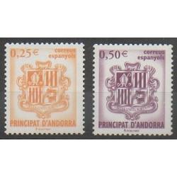 Spanish Andorra - 2002 - Nb 275/276 - Coats of arms