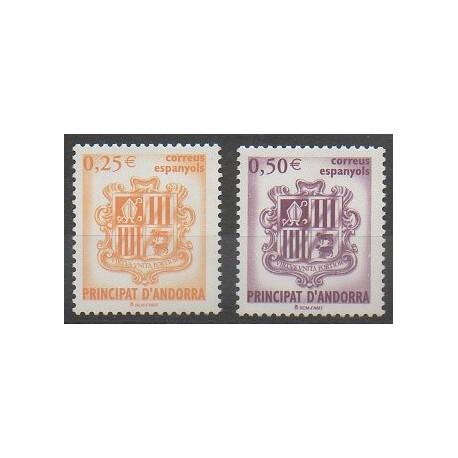 Andorre espagnol - 2002 - No 275/276 - Armoiries