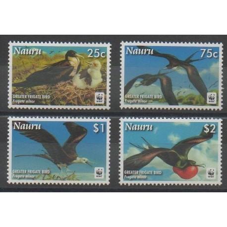 Nauru - 2008 - No 632/635 - Oiseaux - Espèces menacées - WWF