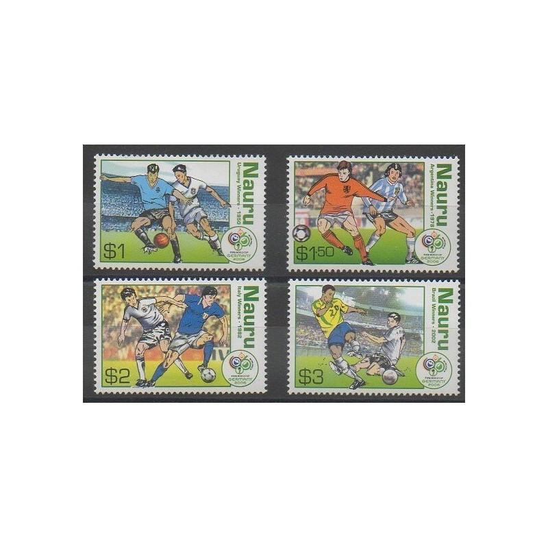 Timbres nauru 2006 no 583 586 coupe du monde de football - Coupe du monde de football 2006 ...