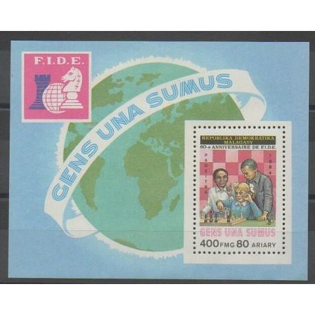 Madagascar - 1984 - No BF26 - Échecs