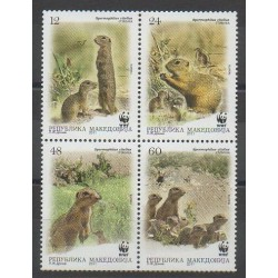 Macédoine - 2011 - No 584/587 - Mammifères - Espèces menacées - WWF