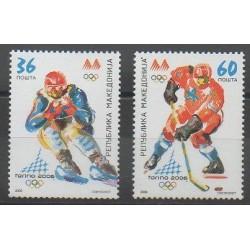 Macédoine - 2006 - No 366/367 - Jeux olympiques d'hiver