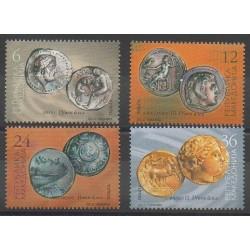 Macédoine - 2002 - No 240/243 - Monnaies, billets ou médailles