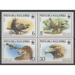 Macédoine - 2001 - No 211/214 - Oiseaux - Espèces menacées - WWF