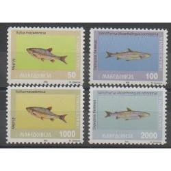 Macedonia - 1993 - Nb 6/9 - Sea animals
