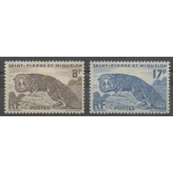 Saint-Pierre et Miquelon - 1952 - No 345/346 - Mammifères - Neuf avec charnière