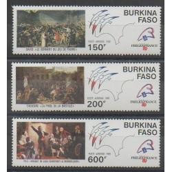 Burkina Faso - 1989 - No PA322/PA323 - Révolution Française
