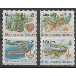 British Antarctic Territory - 1991 - Nb 193/196 - Prehistoric animals