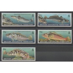British Antarctic Territory - 1999 - Nb 302/306 - Sea animals